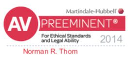 Martindale Hubbell Peer Rating Norman_R_Thom